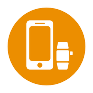 Icon showing phone and watch